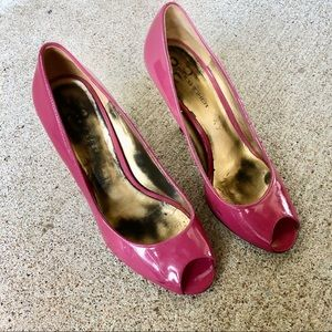 Marc Fisher pink peep toe pumps